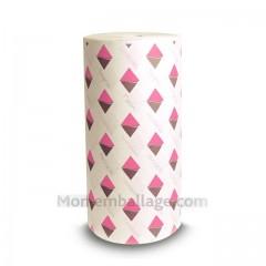 Papier mousseline 45 gr/m² décor SMACK rose en bobine de 50 cm - par 10 kg
