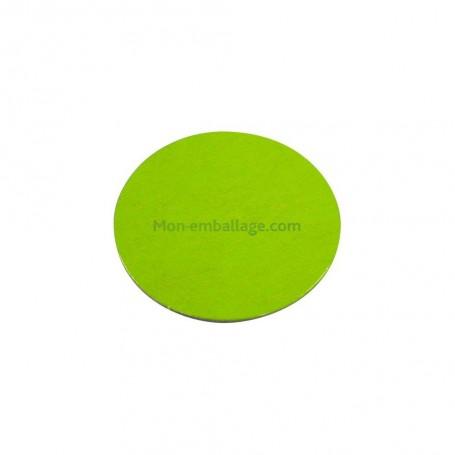Rond carton ingraissable 16 cm vert / noir - par 50