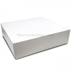 Boîte pâtissière blanche 36 x 36 x 10 cm - par 25