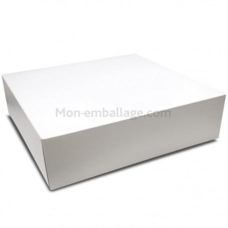 Boîte pâtissière blanche 40 x 40 x 10 cm - par 25