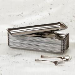 Plateau traiteur rectangulaire métallisé 19 x 6 cm - par 20