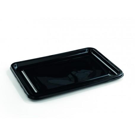 Plateau traiteur rectangulaire noir 55 x 37 cm - par 10