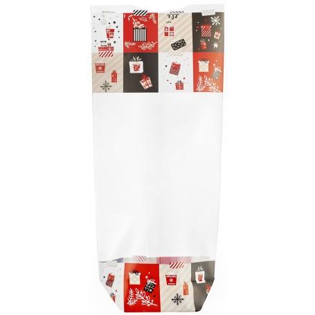 Sachet fond carton décoration Noël 100 x 220 mm - par 100