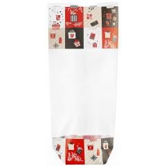 Sachet fond carton décoration Noël 120 x 260 mm - par 100