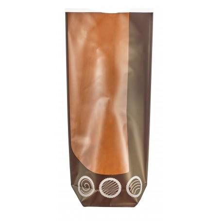 Sachet fond carton chocolats Noël 120 x 260 mm - par 100