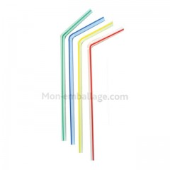 Paille flexible striee - par 250