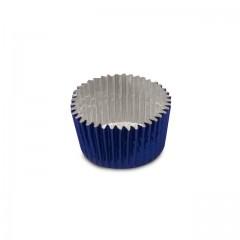 Caissette aluminium bleu 2,3 x 1,6 cm - par 100