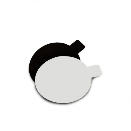 Support noir / blanc rond à languette diamètre 8 cm - par 200