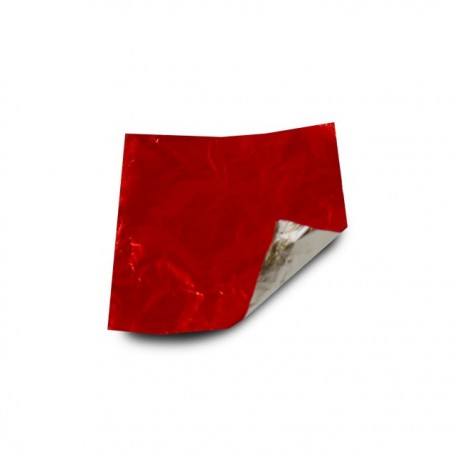 Carré aluminium rouge 8 x 8 cm par 1000