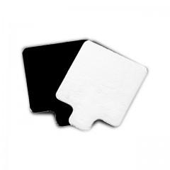 Support noir / blanc carré à languette de 8 x 8 cm - par 200