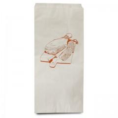 Sac double ingraissable kraft blanc 30 x 14 x 62 cm pour jambon - par 100