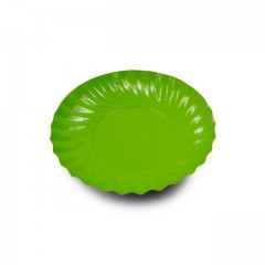 Coupelle en carton ronde fuchsia/vert anis diamètre 90 mm - par 200