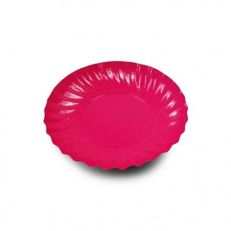 Coupelle en carton ronde anis/fuchsia diamètre 90 mm - par 200