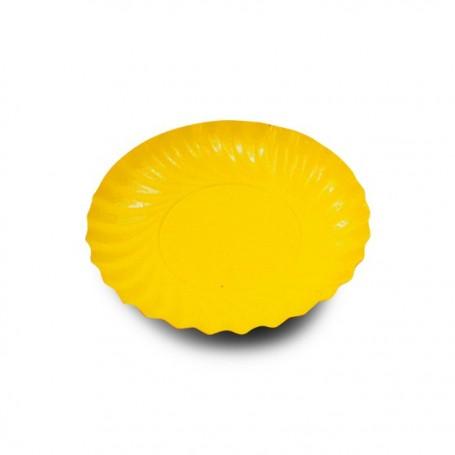 Coupelle en carton ronde orange/jaune diamètre 90 mm - par 200