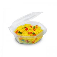 Barquette plastique Alphatop 250 ml micro-ondable avec couvercle - par 50