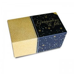 Boîte à bûche décor SCINTILLANT 20 x 11 x 10.5 cm - par 25