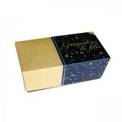 Boîte à bûche décor SCINTILLANT 25 x 11 x 10.5 cm - par 25
