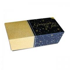 Boîte à bûche décor SCINTILLANT 40 x 11 x 10.5 cm - par 25