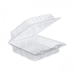Barquette plastique transparente Patipack à couvercle 20 x 8 x 19 cm - par 160
