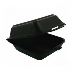 Grande boîte hamburger noire - par 125