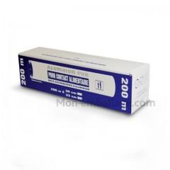 Rouleau aluminium en boîte distributrice 33 cm x 200 m - carton de 6