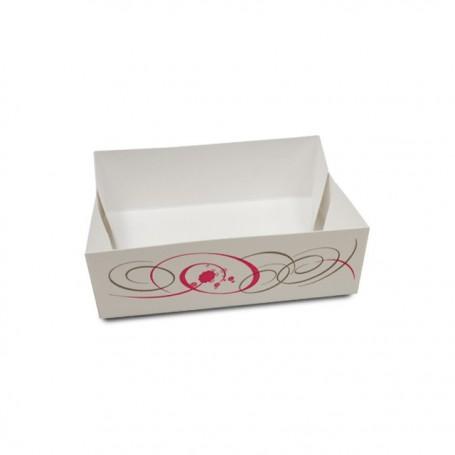 Caissette pâtissière blanche 14 x 10 x 4,5 cm - paquet de 100