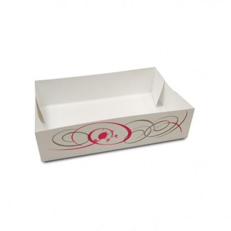 Caissette pâtissière décor VOLUTE 17 x 10 x 4,5 cm - par 100