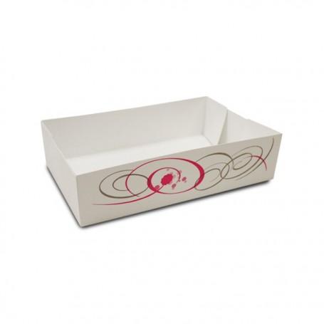 Caissette pâtissière décor VOLUTE 20 x 13 x 5 cm - par 100