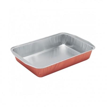 Plat aluminium 4 kg rouge cuivre - carton de 100
