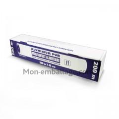 Rouleau aluminium en boîte distributrice 45 cm x 200 m - carton de 6