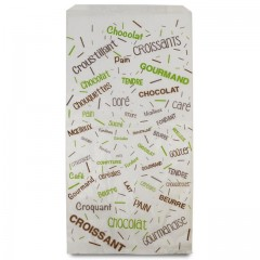 Sachet croissants kraft blanc série COTILLONS 18 x 7 x 35 cm (n°106) - par 1000