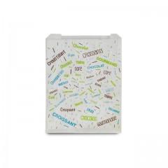 Sachet croissants kraft blanc série COTILLONS 12 x 5 x 14 cm (n°101) - par 1000