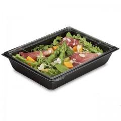 Boite plastique à salade FRESHIPACK noire 1200 ml avec couvercle - par 180