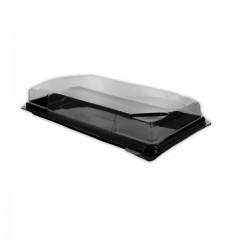 Boîte noire pour sushi FORMIPACK 21,2 x 10,6 cm avec couvercle - par 350