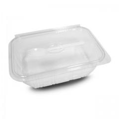 Barquette plastique Optipack à couvercle avec fourchette 750 ml - par 400
