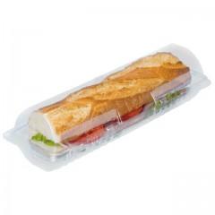 Boîte sandwich baguette cristal avec couvercle à charnière - par 240