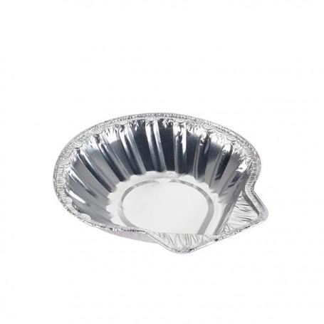 Barquette aluminium pour coquilles saint-jacques - carton de 1000