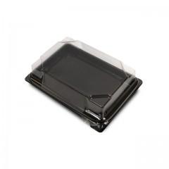 Boîte noire pour sushi FORMIPACK 13,6 x 10,2 cm avec couvercle - par 400