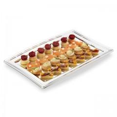 Plateau de présentation buffet argent 27,5 x 19 x 8 cm - par 5