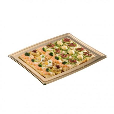 Plateau de présentation buffet or 36 x 25,3 cm - par 5