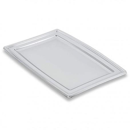 Plateau de présentation buffet argent 46 x 30,5 cm - par 5