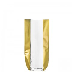 Sachet confiseur fond carton BANDE OR 12 x 26 cm - par 100