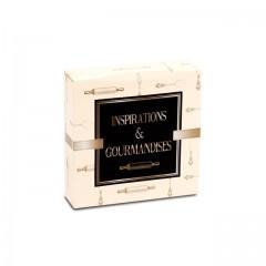 Boîte pâtissière 16 x 16 x 5 cm décor INSPIRATION - par 50