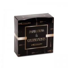 Boîte pâtissière 20 x 20 x 8 cm décor INSPIRATION - par 50