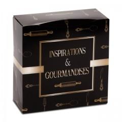Boîte pâtissière 28 x 28 x 8 cm décor INSPIRATION - par 50