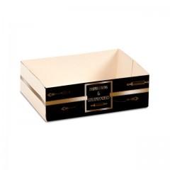 Caissette pâtissière 13.5 x 10 x 5 cm décor BAROQUE- par 100