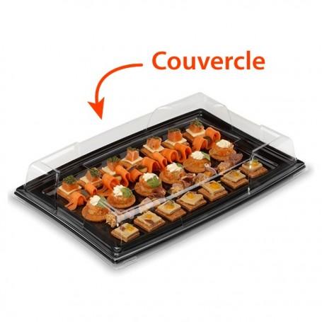 Couvercle plateau de présentation buffet transparent 28 x 19 cm - par 5