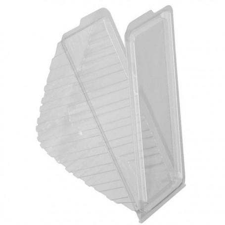 Boîte triangle 3 sandwichs cristal avec couvercle à charnière - 600
