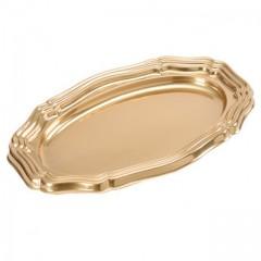 Grand plat ovale 58 x 30,5 cm or - par 5
