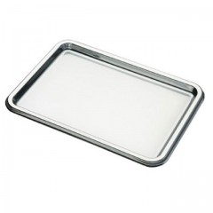Plateau traiteur rectangulaire argent 35 x 24 cm - par 5